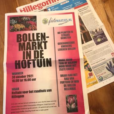 Zaterdag 30 oktober leuke bollenmarkt in Hillegom!