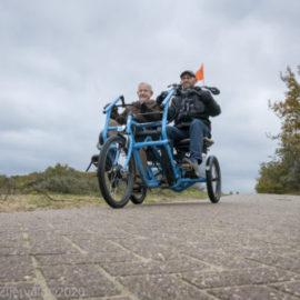Theo Wesseling en Theo van den Berg Fietsmaatjes