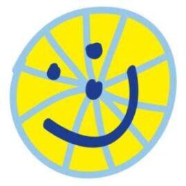 Fietsmaatjes logo lachend wiel